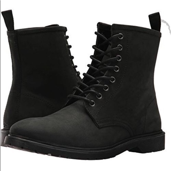 14d4465978a Steve Madden Men Scrooge Black Lace Up Boot SZ 9 NWT
